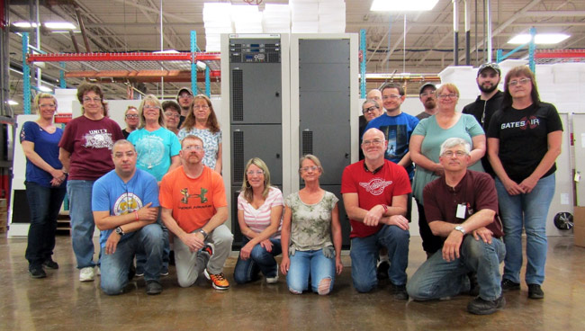 Workers of GatesAir delivering the 300th Maxiva ULXTE 50