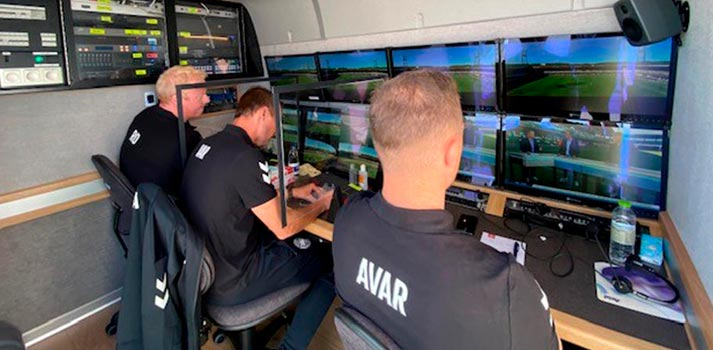 VAR Room at OB Truck delivered by Xeebra technology (EVS)