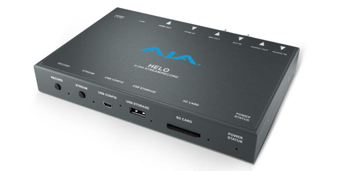 AJA HELO H264 stream and record tool
