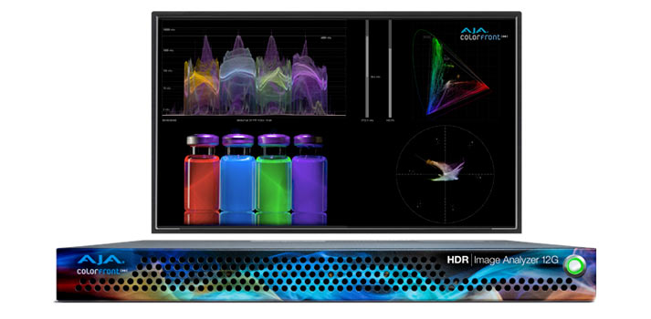 12G HDR Image Analyzer + monitor, technology developed by AJA and Colorfront
