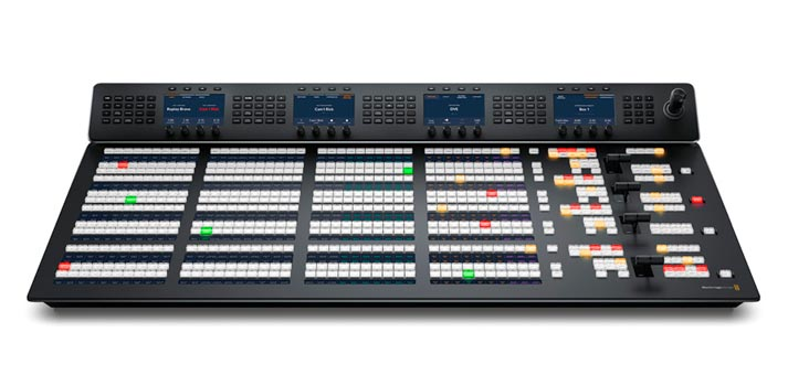 Front view of one of the new ATEM Advanced Panels by Blackmagic Design