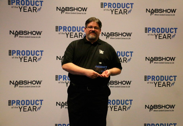 Tim Conway, VP Americas, Adder accepts the NAB Product of the Year Award