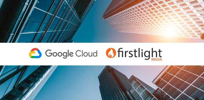 Corporate image of the agreement between Firstlight Media and Google Cloud
