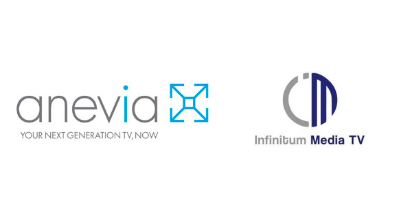Logos of two companies: Anevia and Infinitum Media