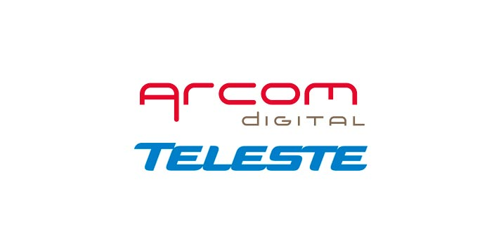 Logos of Arcom Digital and Teleste