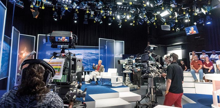 TV Studio of Asteroid Day TV Show produced by BCE