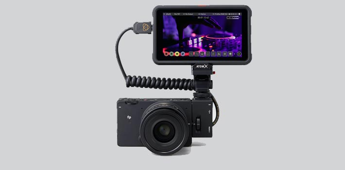 Atomos Ninja V allows 4k and HD RAW recording in Sigma fp L