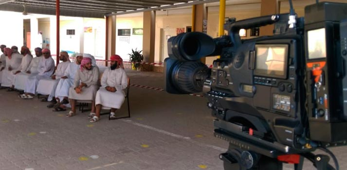 Aviwest equipment deployed at Oman Elections attached to a camera
