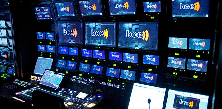 Control room at BCE's Headquarters