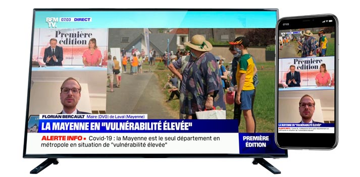 """Vertical Live"" solution implemented by BFMTV and developed with Wildmoka"