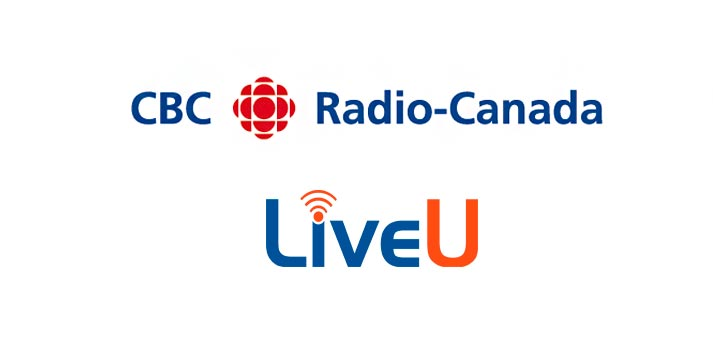Logos of CBC Radio Canada and LiveU