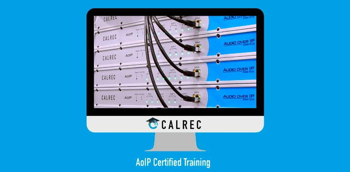 Promotional PIC of Calrec Audio over IP training