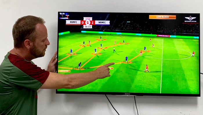 Bangkok United's coaches use ChyronHego's Coach Paint