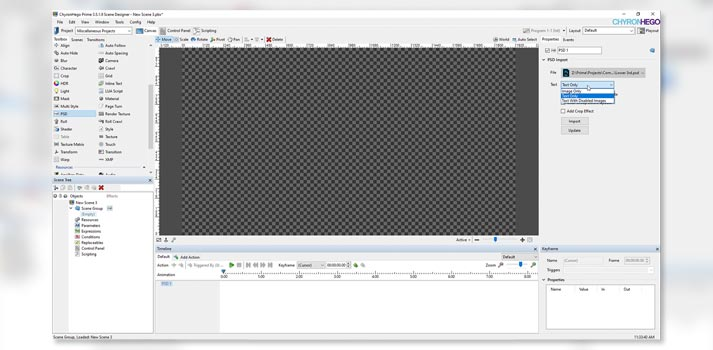 Screenshot of the version 3.5 of ChyronHego PRIME Graphics