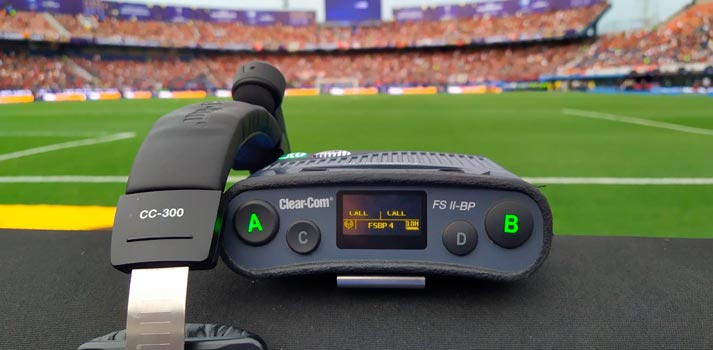 Clear-com device deployed at the final match of Conmebol tournament (South America)