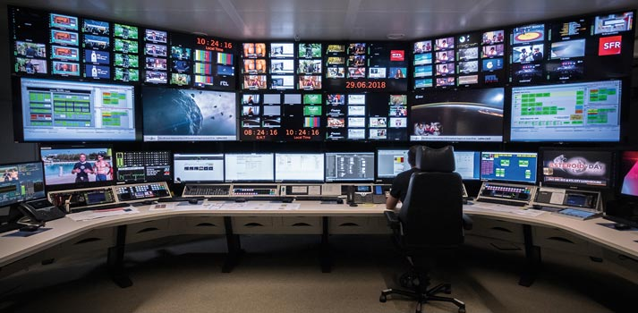 Control room of the BCE-produced TV Show Asteroid Day