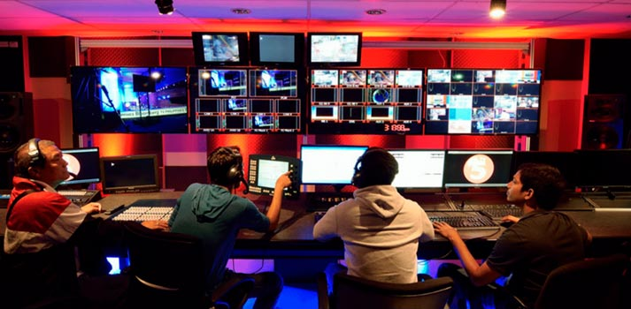 TV5 at Philippines - Control room