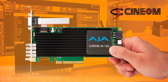 CINEOM started using AJA Corvid cards in order to boost virtual reality productions