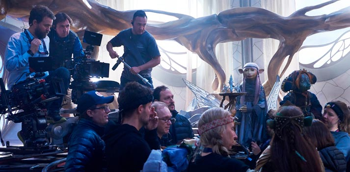 Shooting of the new Dark Crystal series. Photo credit: Kevin Baker