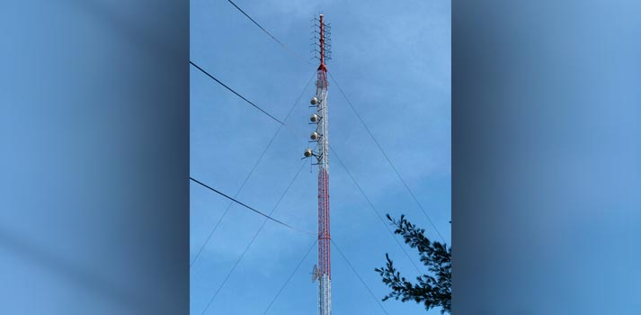 FM Tower implemented for WSEW by Dielectric