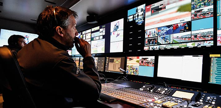 TV director during the production of MotoGP