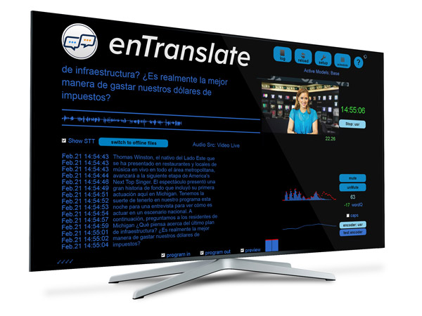 Screenshot of the ENCO's enTranslate solution