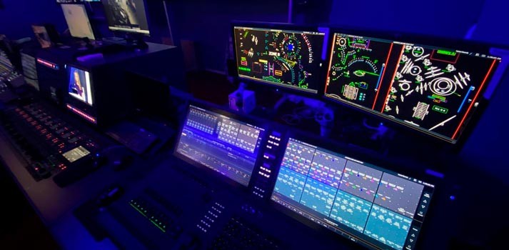 Lightning console deployed at Dubai TV station control room