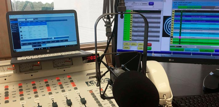 Baker Broadcasting studio with ENCO solutions