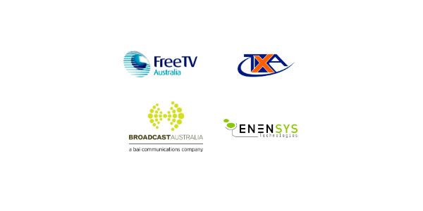 Logos of the companies that were involved in the last Australian DVB-T2 test