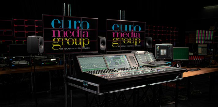 Studio of the services + facilities provider Euro Media Group