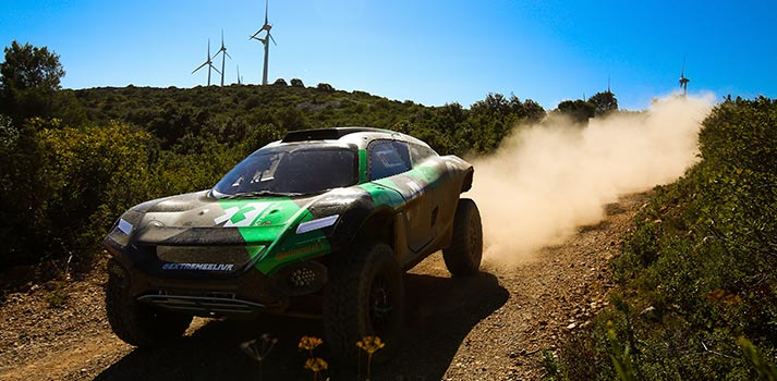 Extreme E Racing series vehicle. Photo: Extreme E, the upcoming electric off-road racing series, has confirmed a partnership with ESPN in Latin America. Pic: Shivraj Gohil (Spacesuit Media)