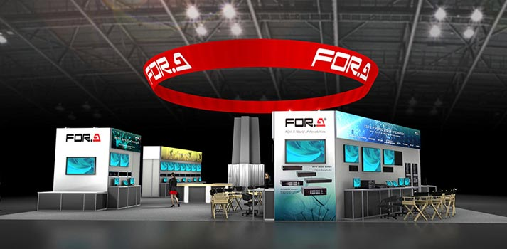 AJA's stand design for NAB Show 2020