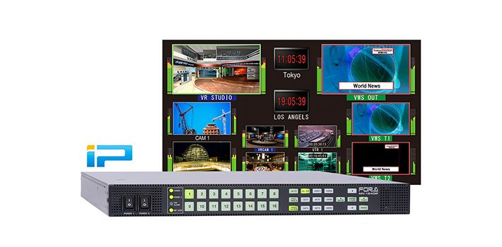 FOR-A releases the MV-1640IP, its new multiviewer for IP production workflows