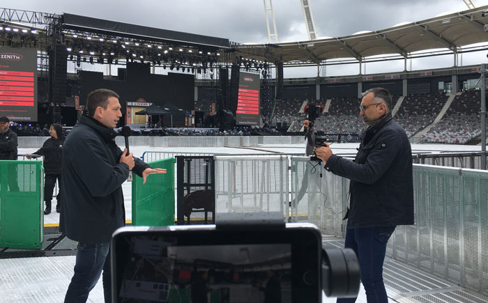 Quicklink used in three iphone8 for a live transmittion of France 3