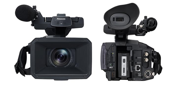 Front and back view of the Panasonic AG CX350