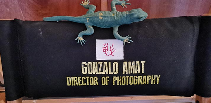 Chair of Gonzalo Amat in the shoot of The Man in the High Castle