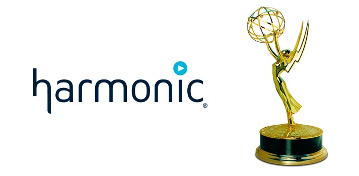 Logo of Harmonic with an Emmy Award