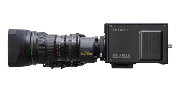 View of the DK-H200 compact box camera of Hitachi