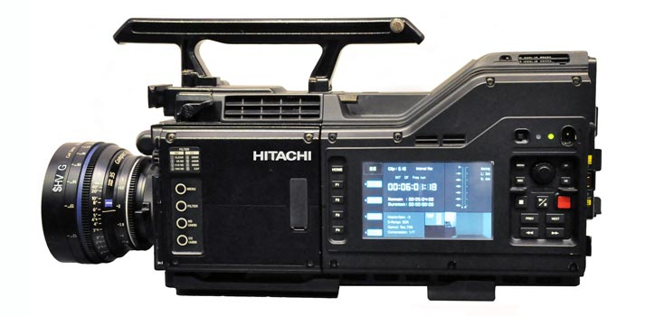 Side view of Hitachi's newest camera SK-UHD-8060B