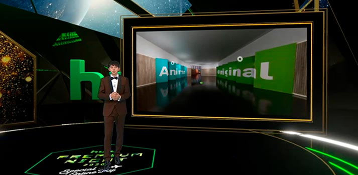 Hulu Japan's virtual set powered by Ross Video solutions