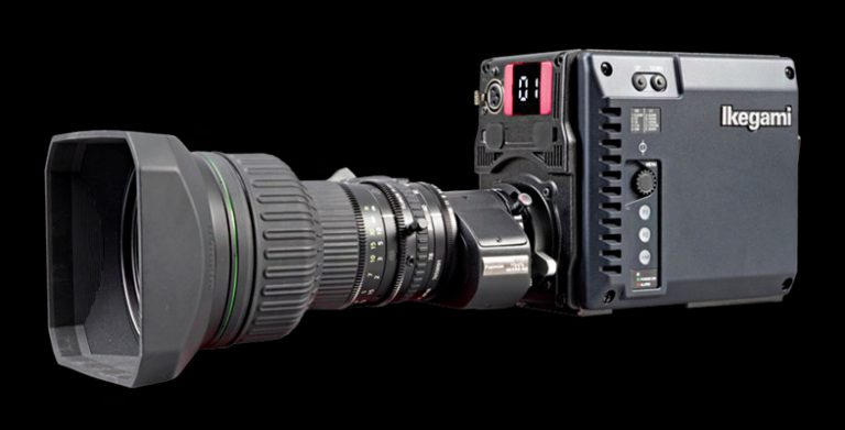Perspective view of the Ikegami UHL-43 compact HDR camera