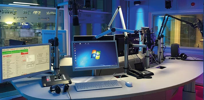 Equipment at a SWR3 Visual radio studio