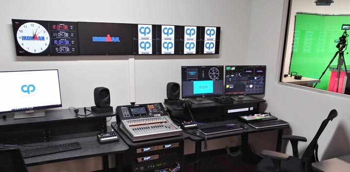 The latest control room + virtual studio of IRONMAN has been integrated by CP Communications