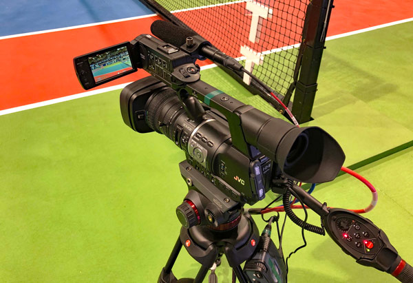 JVC's cameras deployed in the World Team Tennis competition