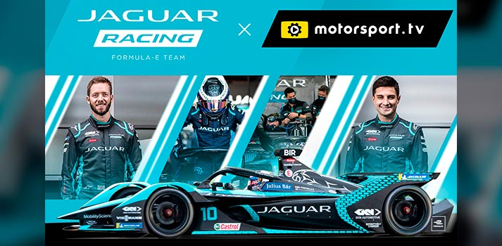 Jaguar channel on Motorsport TV - Promo pic