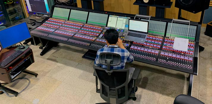 IP console developed by Lawo implemented in Korean KBS