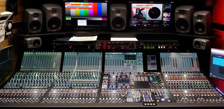 Lawo m296 console at ORF OB Truck