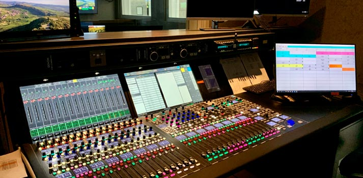 Lawo mc256 board at Mediapro Argentina