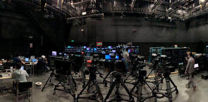 CCTV studio full-IP with Lawo equipment