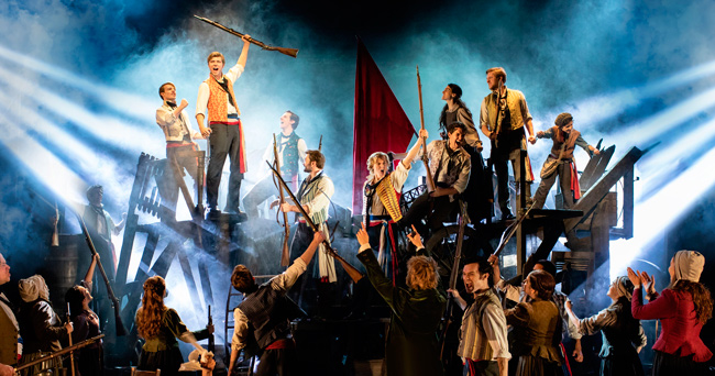 Barricades in the production of the Les Miserables tour 2019